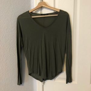 Rag & bone jean green modal v neck shirt size xs